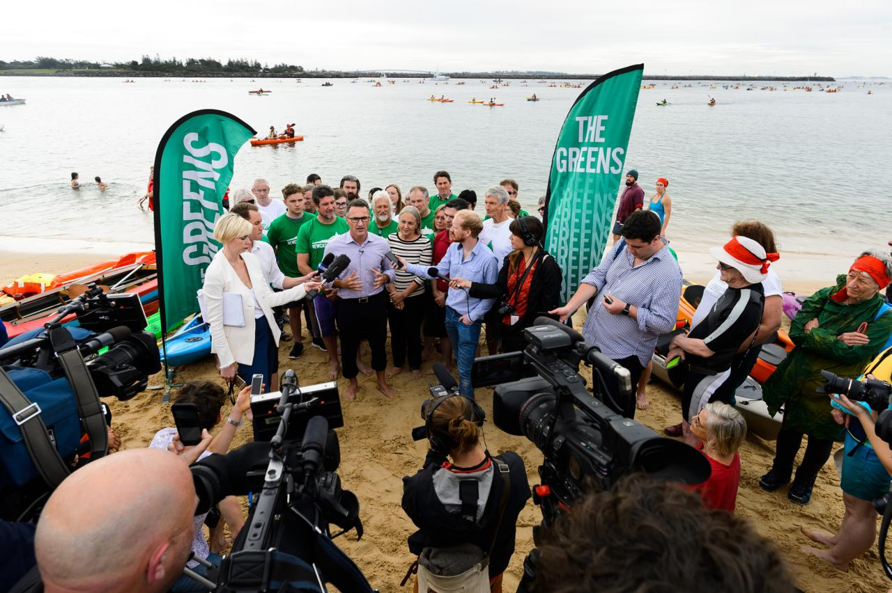 Greens Press Conference in Newcastle